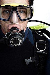 Scuba diving regulator - first stage.