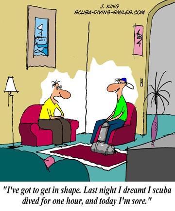 Scuba diving cartoon #3 - It's an addictio
