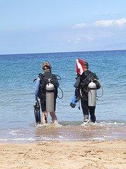 scuba divers - shore dive