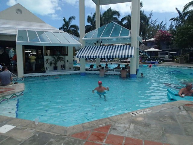 Swim up pool bar at Beaches all inclusive resort